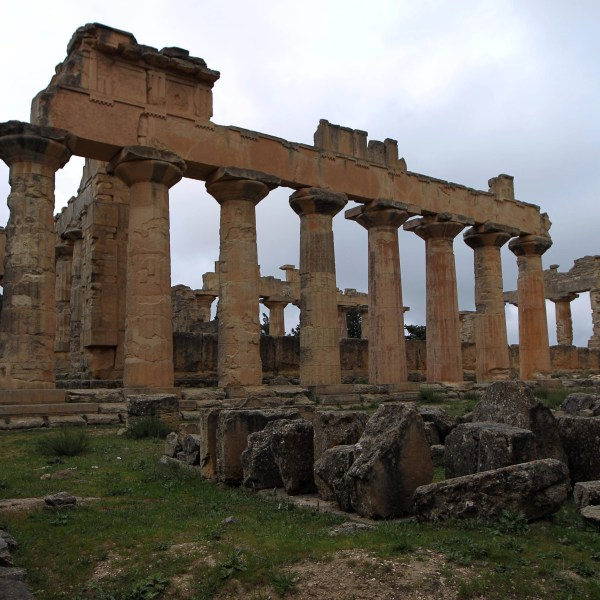 A general view taken on April 7, 2015 shows ruins at the archaeological site of the ancient Greek city of Cyrene, a colony of the Greeks of Thera (Santorini) and a principal city in the Hellenic world founded in 630 BC, located in the suburbs of the Libyan eastern town of Shahat, east of Benghazi. (Credit: ABDULLAH DOMA/AFP/Getty Images)