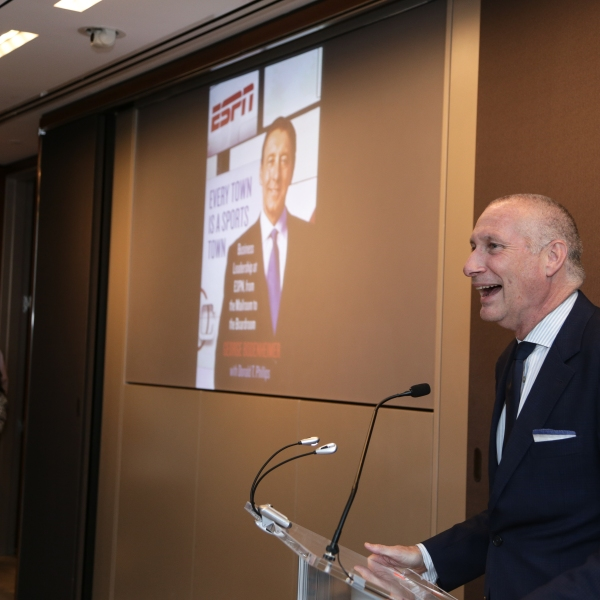 John Skipper speaks during the George Bodenheimer Book Party at Hearst Tower on June 2, 2015 in New York City. (Credit: Anna Webber/Getty Images for Hearst Corporation)