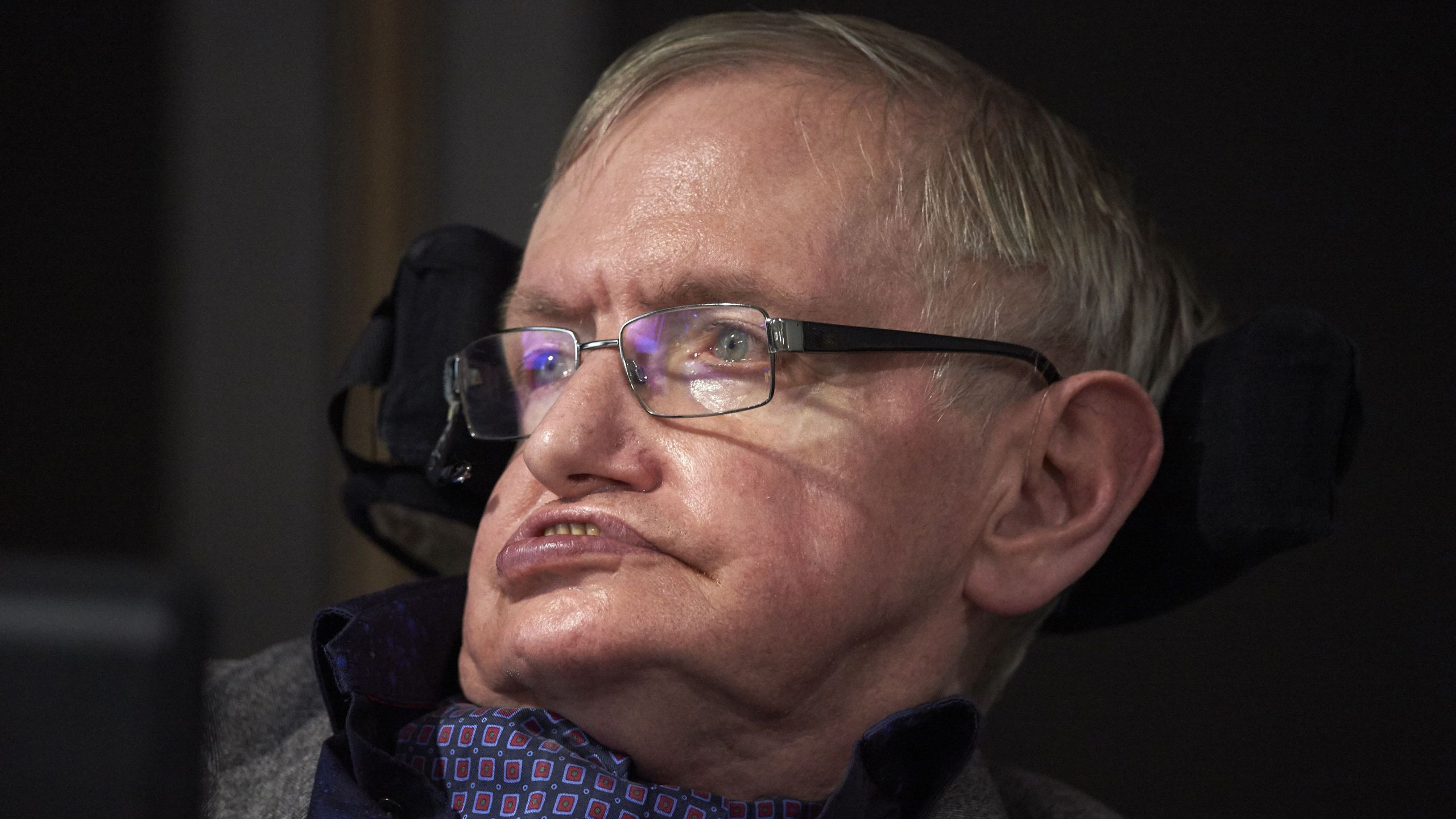 British scientist Stephen Hawking attends the launch of The Leverhulme Centre for the Future of Intelligence (CFI) at the University of Cambridge, in Cambridge, eastern England, on October 19, 2016. (Credit: NIKLAS HALLE'N/AFP/Getty Images)