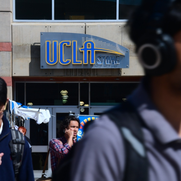 Students walk around at UCLA on May 11, 2017. (Credit: FREDERIC J. BROWN/AFP/Getty Images)