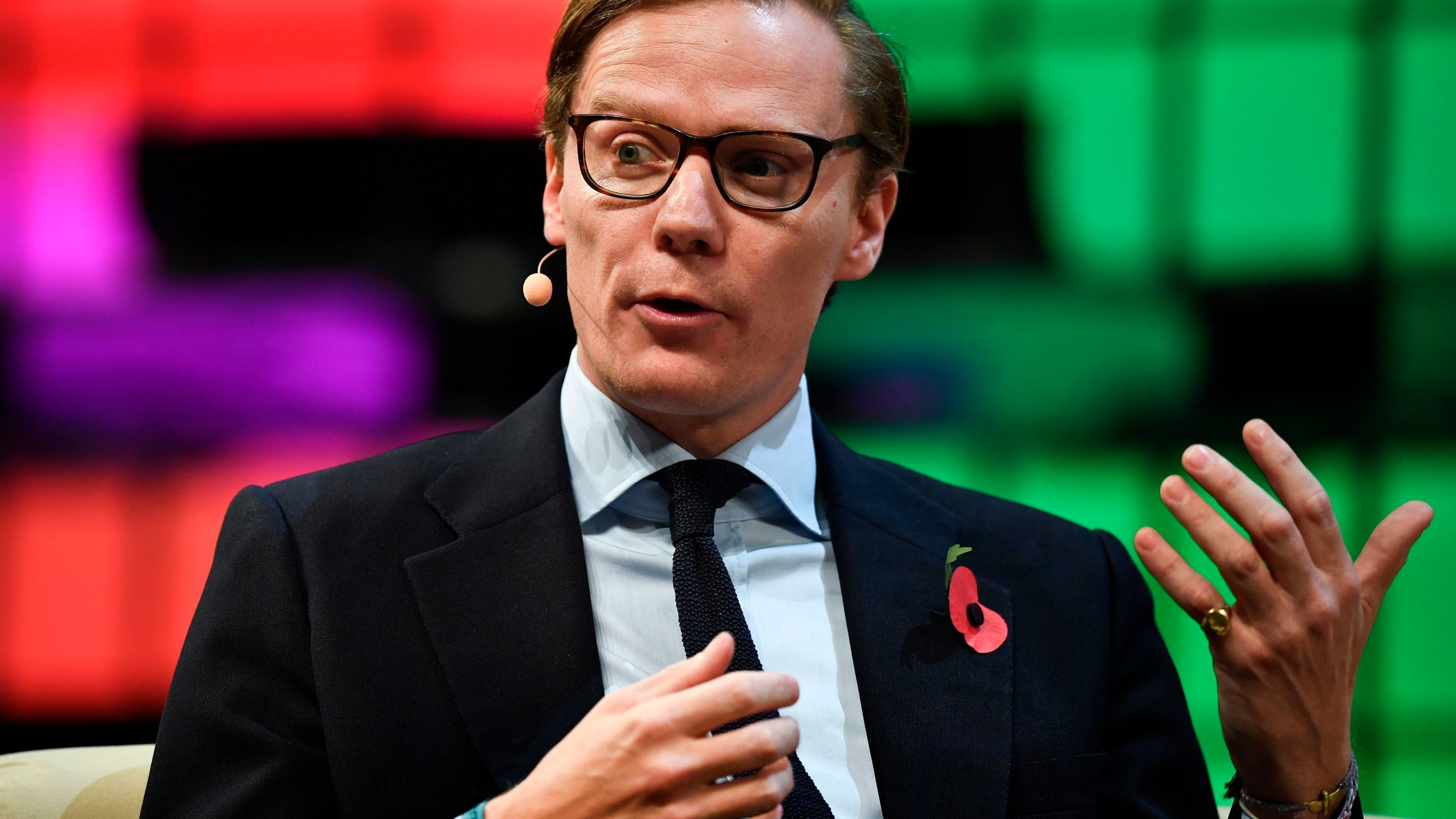 Cambridge Analytica CEO Alexander Nix gives an interview during the 2017 Web Summit in Lisbon, Nov. 9, 2017. (Credit: Patricia De Melo Moreira / AFP / Getty Images)