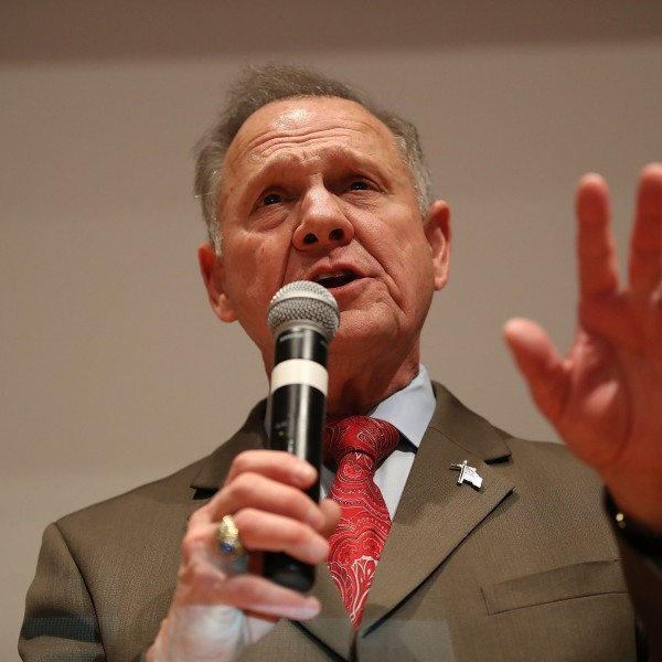 Roy Moore speaks at the RSA Activity Center on Dec. 12, 2017 in Montgomery, Alabama. (Credit: Joe Raedle/Getty Images)