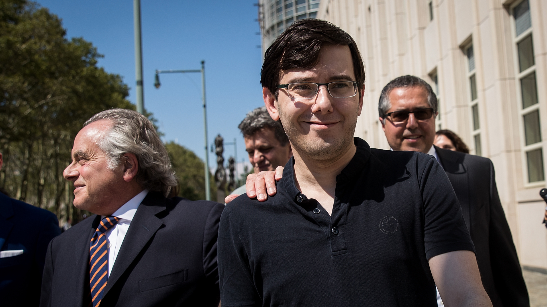 Former pharmaceutical executive Martin Shkreli after the jury issued a verdict at the U.S. District Court for the Eastern District of New York in Brooklyn on Aug. 4, 2017. (Credit: Drew Angerer/Getty Images)