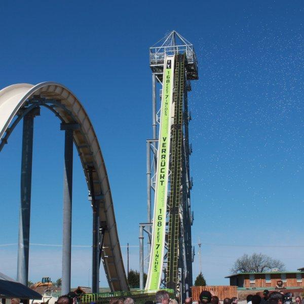 An undated photo shows Verruckt, certified by Guinness World Records in May 2014 as the world's tallest water slide, at the Schlitterbahn Waterpark in Kansas City, Kansas. (Credit: Schlitterbahn/CNN)