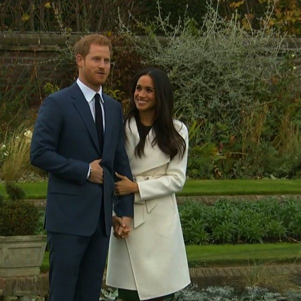 Prince Harry and Meghan Markle seen here in 2017 annoucing their engagement. (Credit: CNN)