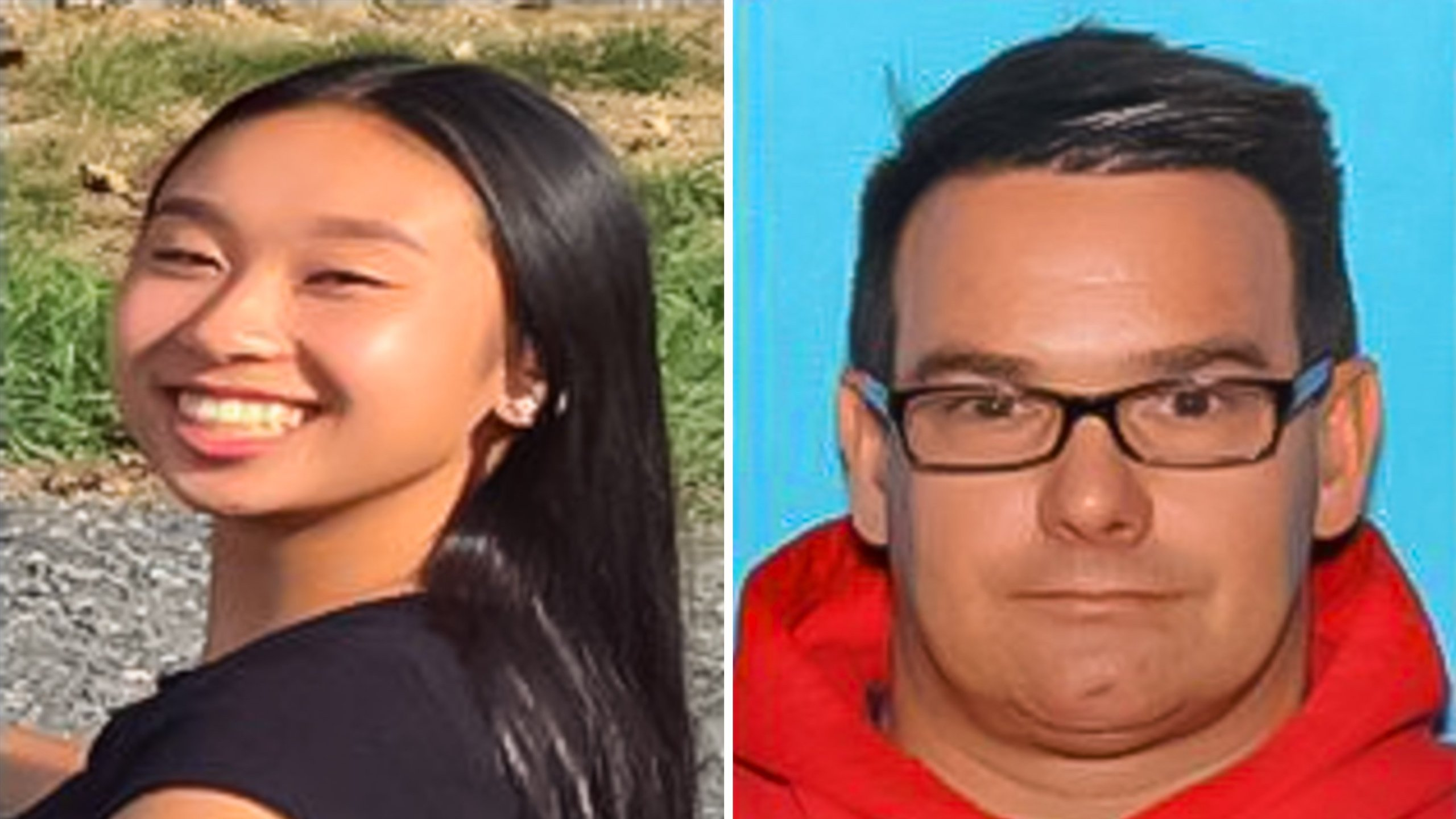 Amy Yu,16, and 45-year-old Kevin Esterly are seen in photos released by the Allentown Police Department.