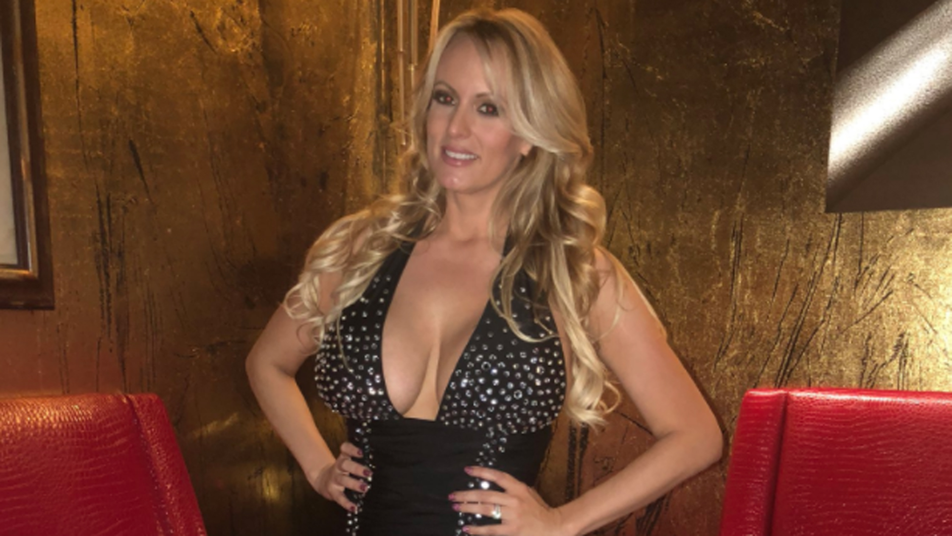 Stormy Daniels is shown in a photo tweeted by CNN's Nick Valencia on March 10, 2018.