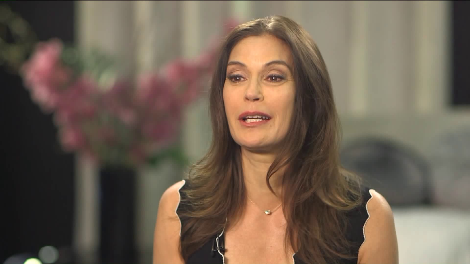Teri Hatcher is seen during an interview with Sam Rubin on March 8, 2018. (Credit: KTLA)