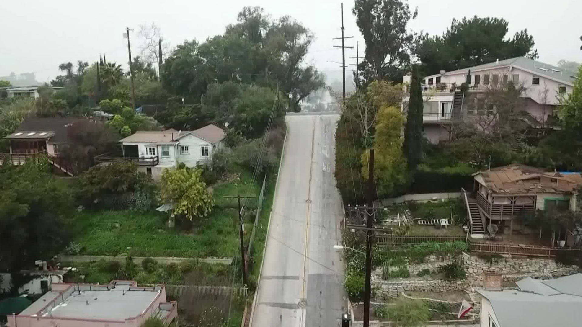 A section of Baxter Street in Echo Park, as seen in a still from Drone5.