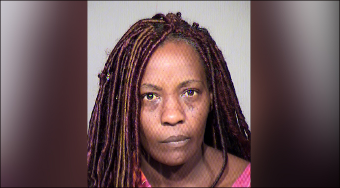 Sharron Dobbins is seen in a booking photo obtained by Tribune Media Wire on April 2, 2018 from the Maricopa County Sheriff's Office.