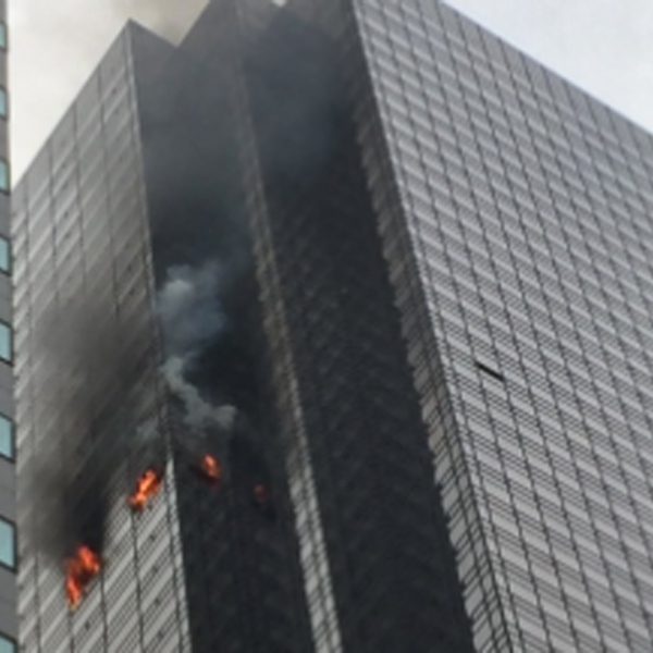 The New York City Fire Department tweeted this photo of a fire at Trump Tower on April 7, 2018.
