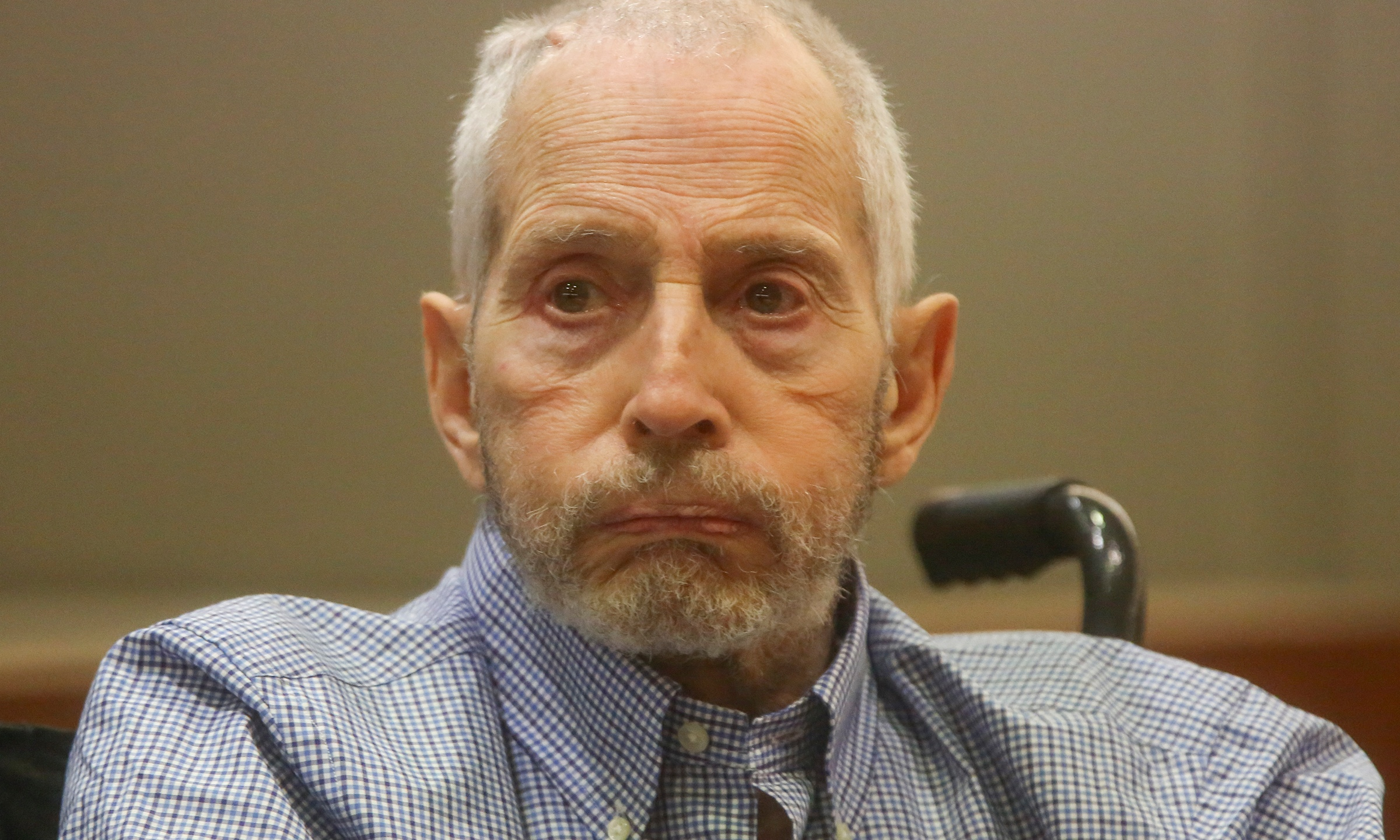 New York real estate scion Robert Durst appears in the Los Angeles Superior Court Airport Branch for a pre-trial motions hearing involving witnesses that are expected to testify before the trial on January 6, 2017. (Credit: MARK BOSTER/AFP/Getty Images)