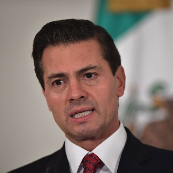 Mexico's President Enrique Pena Nieto speaks during a press conference on the sidelines of the Asia-Pacific Economic Cooperation (APEC) Summit in the central Vietnamese city of Danang on November 11, 2017. (Credit: ANTHONY WALLACE/AFP/Getty Images)