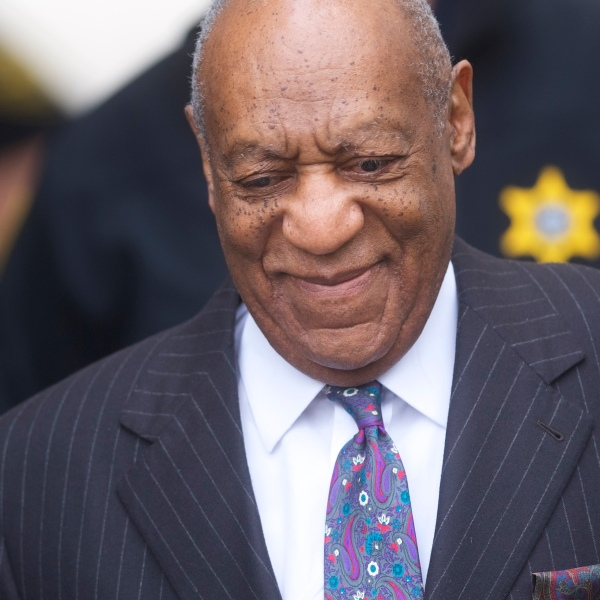 Bill Cosby arrives at the Montgomery County Courthouse for the first day of his sexual assault retrial on April 9, 2018 in Norristown, Pennsylvania. (Credit: Mark Makela/Getty Images)