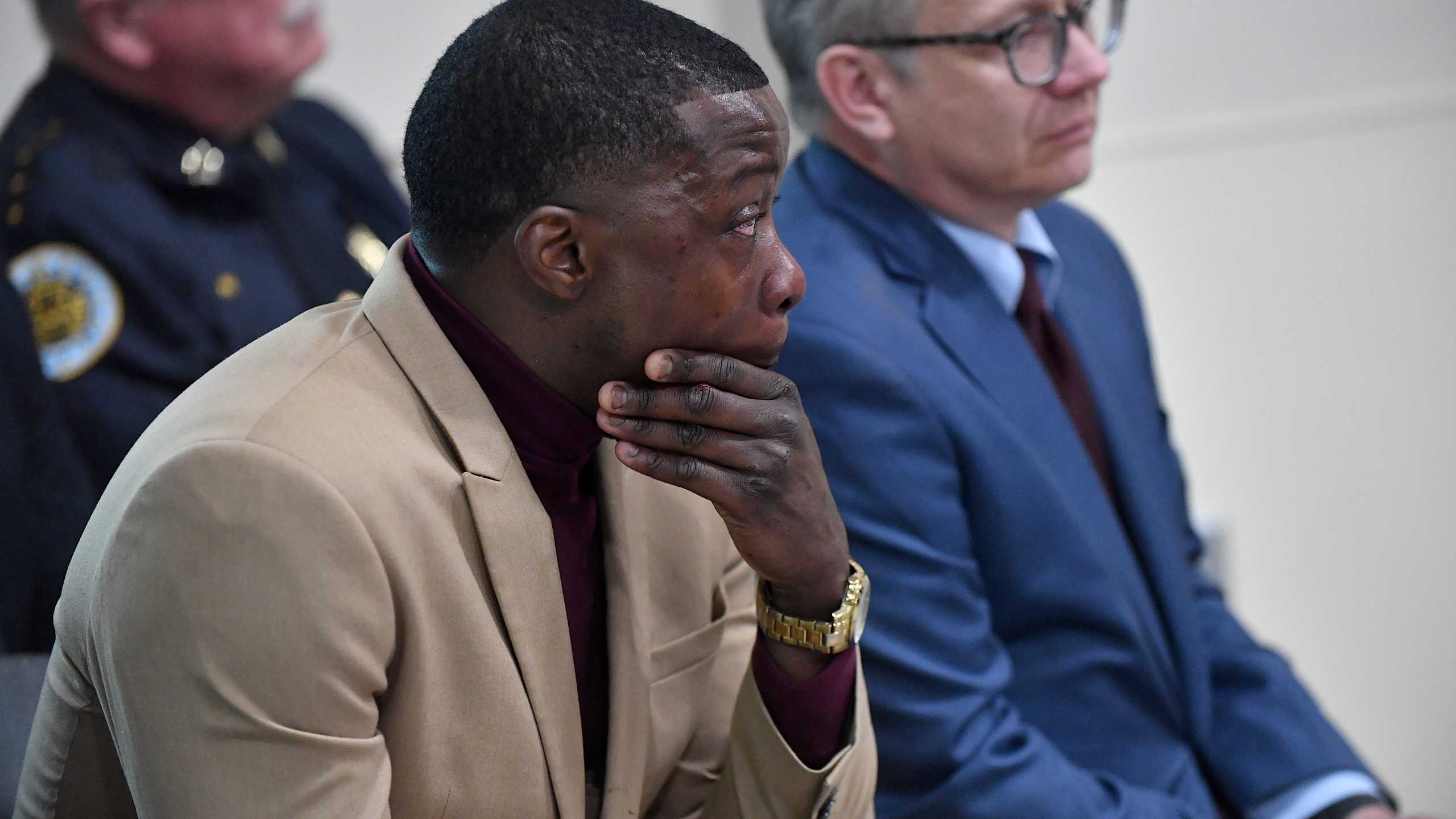 James Shaw Jr. attends a press conference on April 22, 2018 in Nashville, Tennessee. (Credit: Jason Davis/Getty Images)