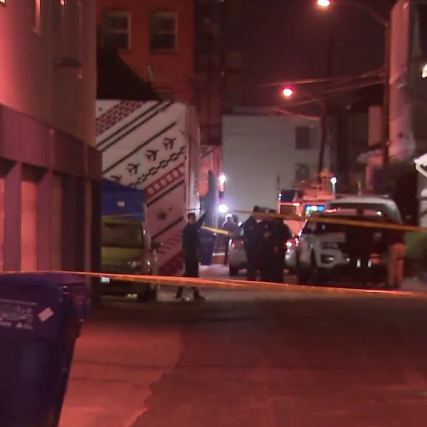 Authorities investigate a fatal hit-and-run in Venice on April 19, 2018. (Credit: KTLA)