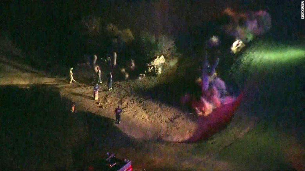 A small plane caught fire after takeoff and crashed at a nearby Arizona golf course on Monday, leaving six people dead, officials said. (Credit: KPHO)