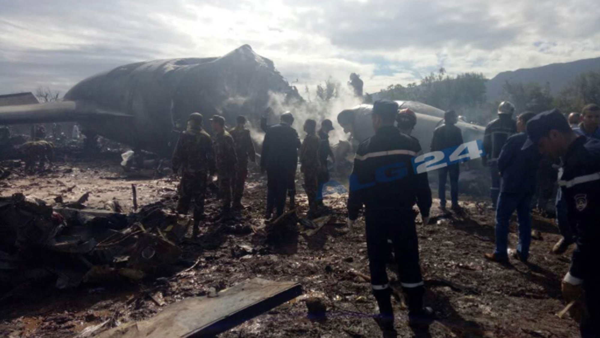 At least 257 people have been killed in a military plane crash near Algeria's capital, Algiers, state media reports. (Credit: AP via CNN Wire)