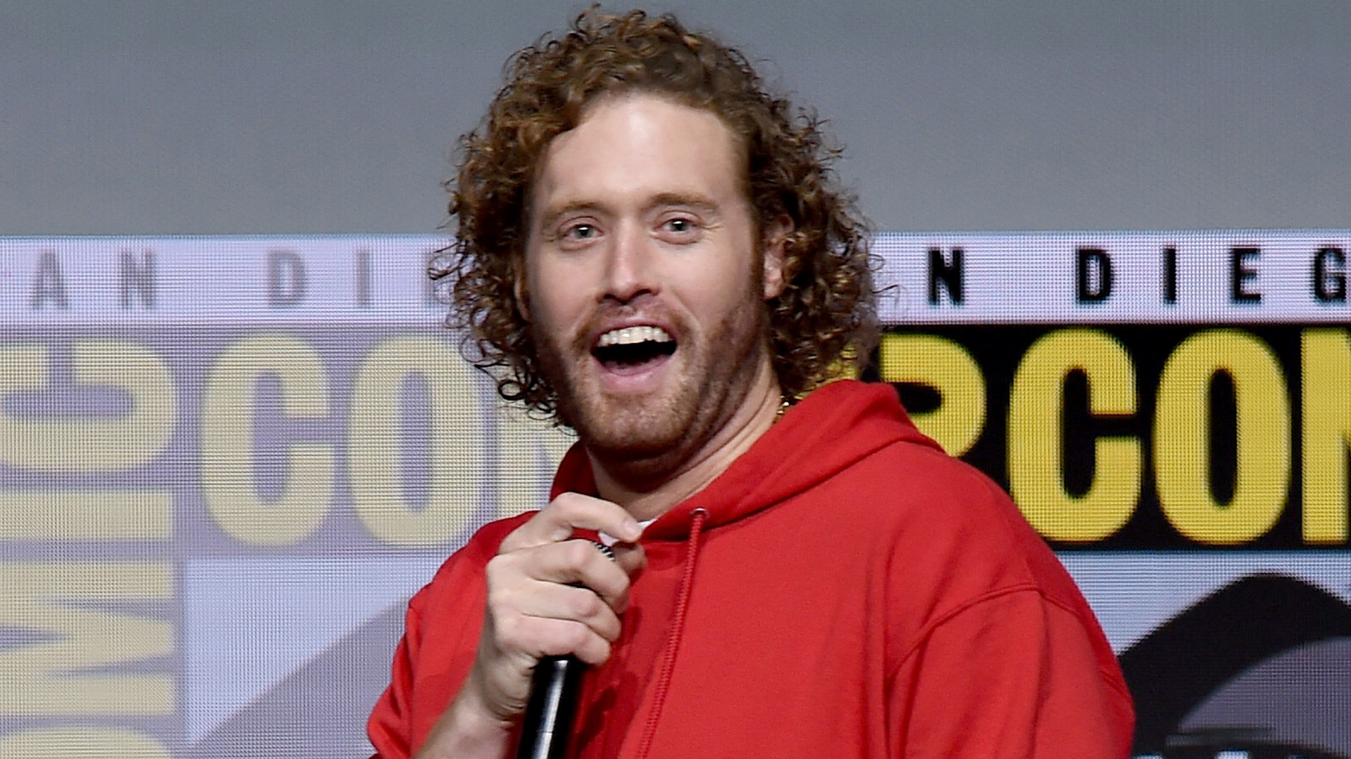 Actor T.J. Miller attends the Warner Bros. Pictures Presentation during Comic-Con International 2017 at San Diego Convention Center on July 22, 2017. (Credit: Kevin Winter/Getty Images)
