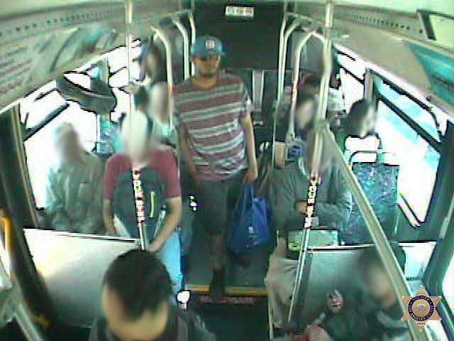 A man accused of stabbing another man on a public transportation bus in East Los Angeles is seen in this image released April 10, 2018, by Los Angeles County sheriff's officials.