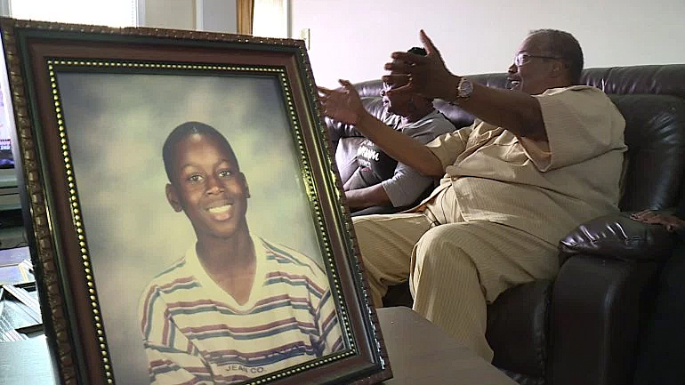 A young Andre Ingram is seen in a photo at his parent's house in Virginia. (Credit: WTVR)