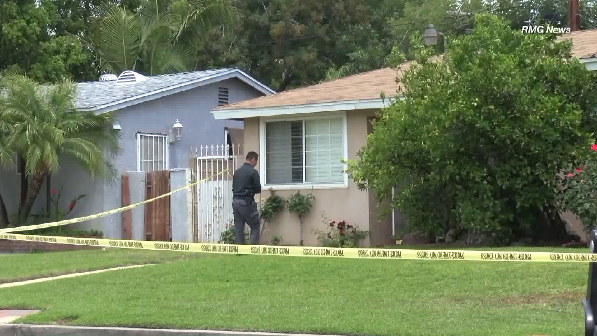 Deputies respond to a home where copious amounts of blood, but no victim, were found on May 29, 2018. (Credit: RMG News)