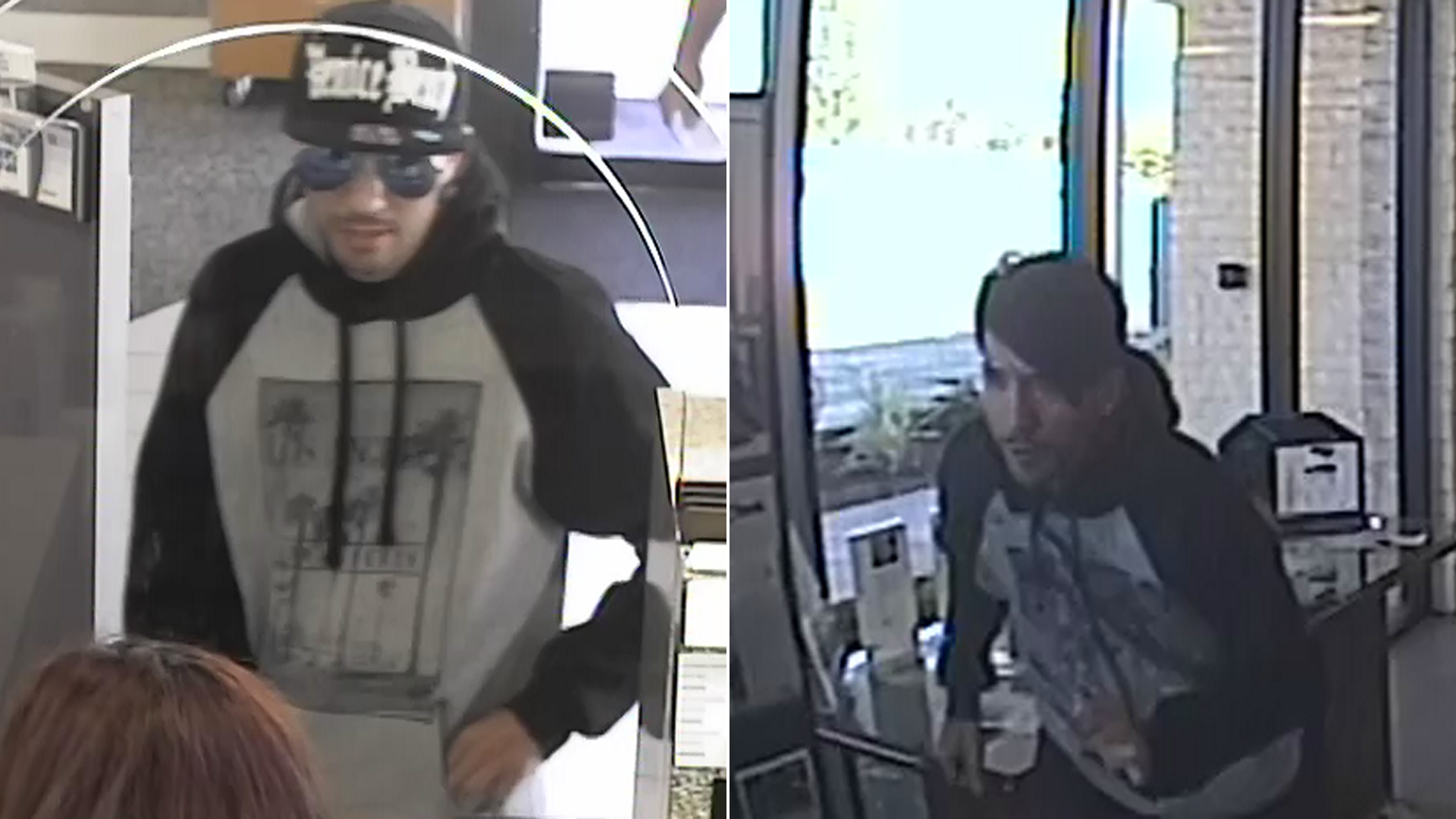 James Hamill is shown in a U.S. Bank branch in Burbank on April 20, 2018, according to Burbank police, who released these images.