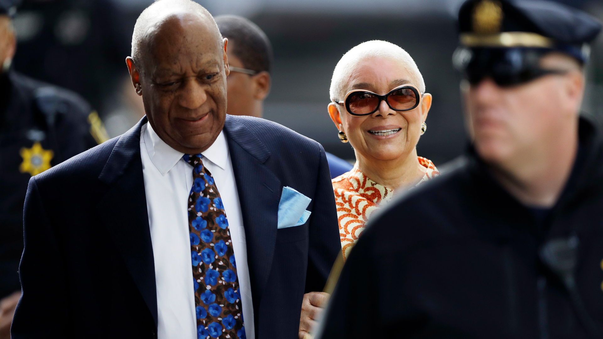 Bill Cosby's wife claimed in a statement Thursday that her husband's accuser gave false testimony during the trial that ended last week, and demanded an investigation of the district attorney. (Credit: Matt Slocum / Associated Press via CNN Wire)