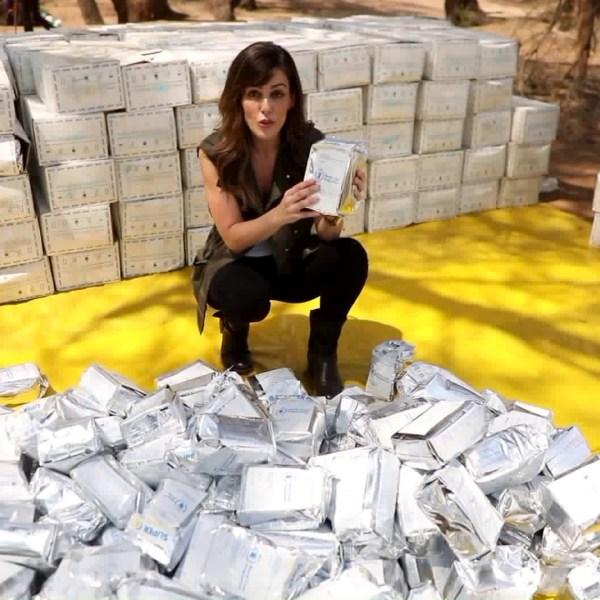Megan Henderson shows how donations are helping the refugees of Kakuma, Kenya. (Credit: KTLA)