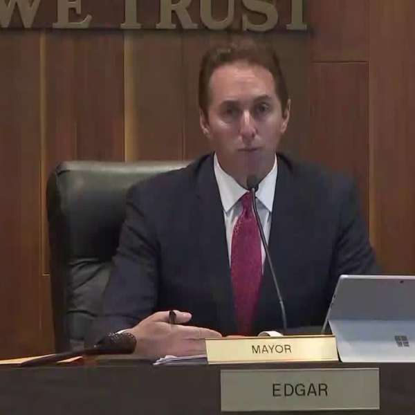 Los Alamitos Mayor Troy Edgar, in an undated photo, was invited to the White House to speak with President Donald Trump. (Credit: KTLA)