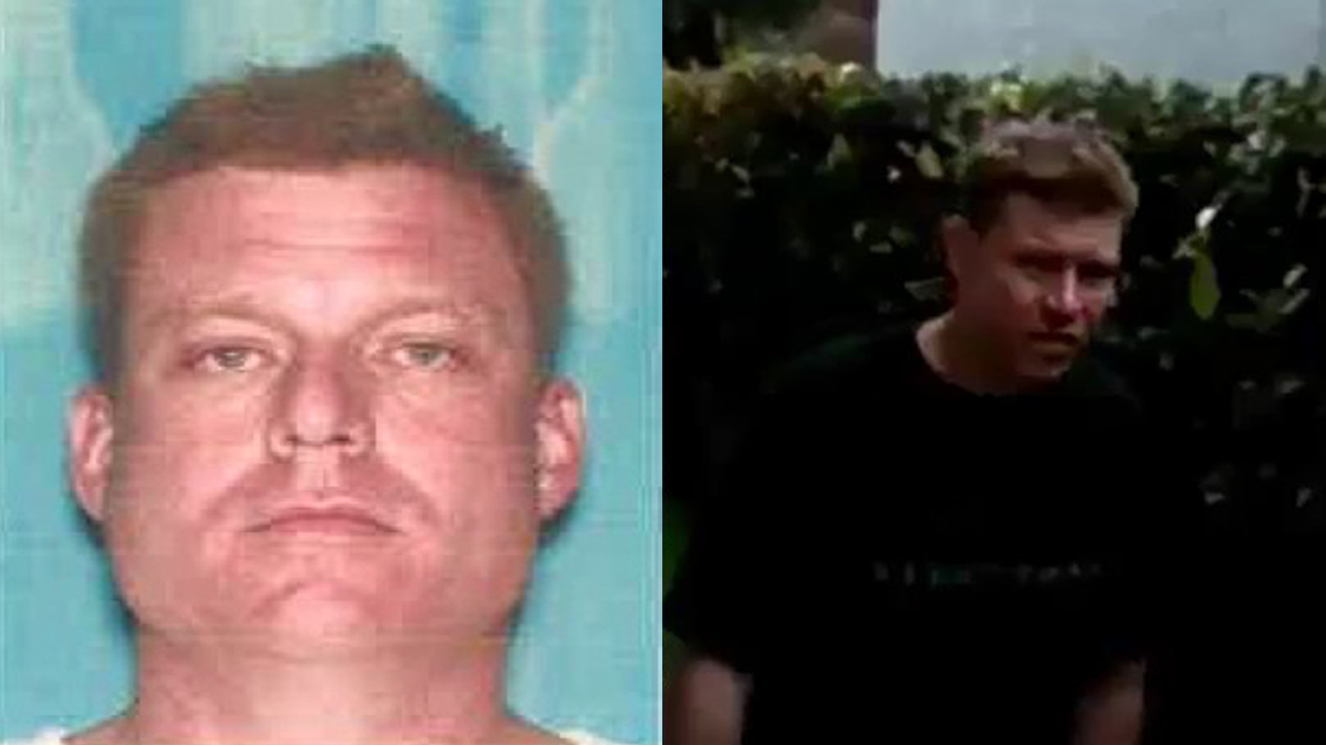 Brett Patrick Rogers, 44, is shown in photos and images released by LAPD on May 3, 2018.