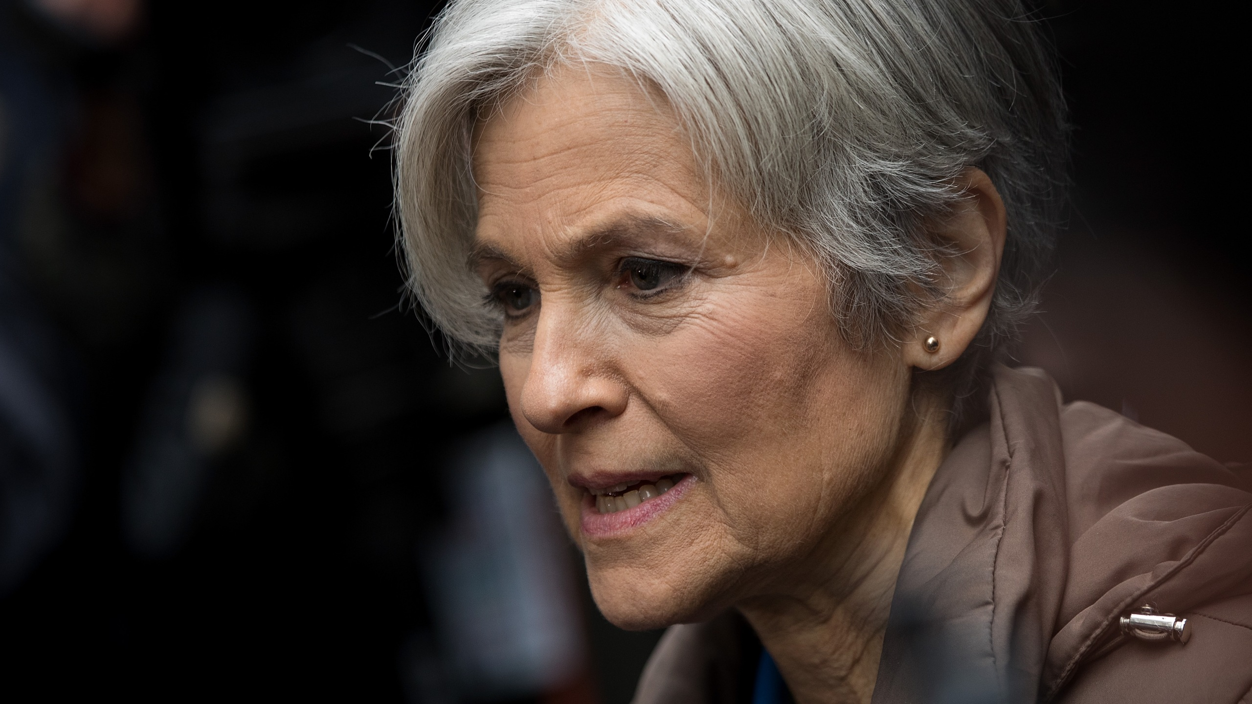 Green Party presidential candidate Jill Stein speaks at a news conference on Fifth Avenue across the street from Trump Tower on Dec. 5, 2016. (Credit: Drew Angerer/Getty Images)