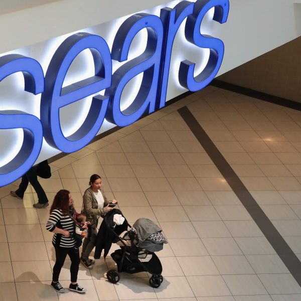 People shop at a Sears store on March 22, 2017 in Schaumburg, Illinois. (Credit: Scott Olson/Getty Images)