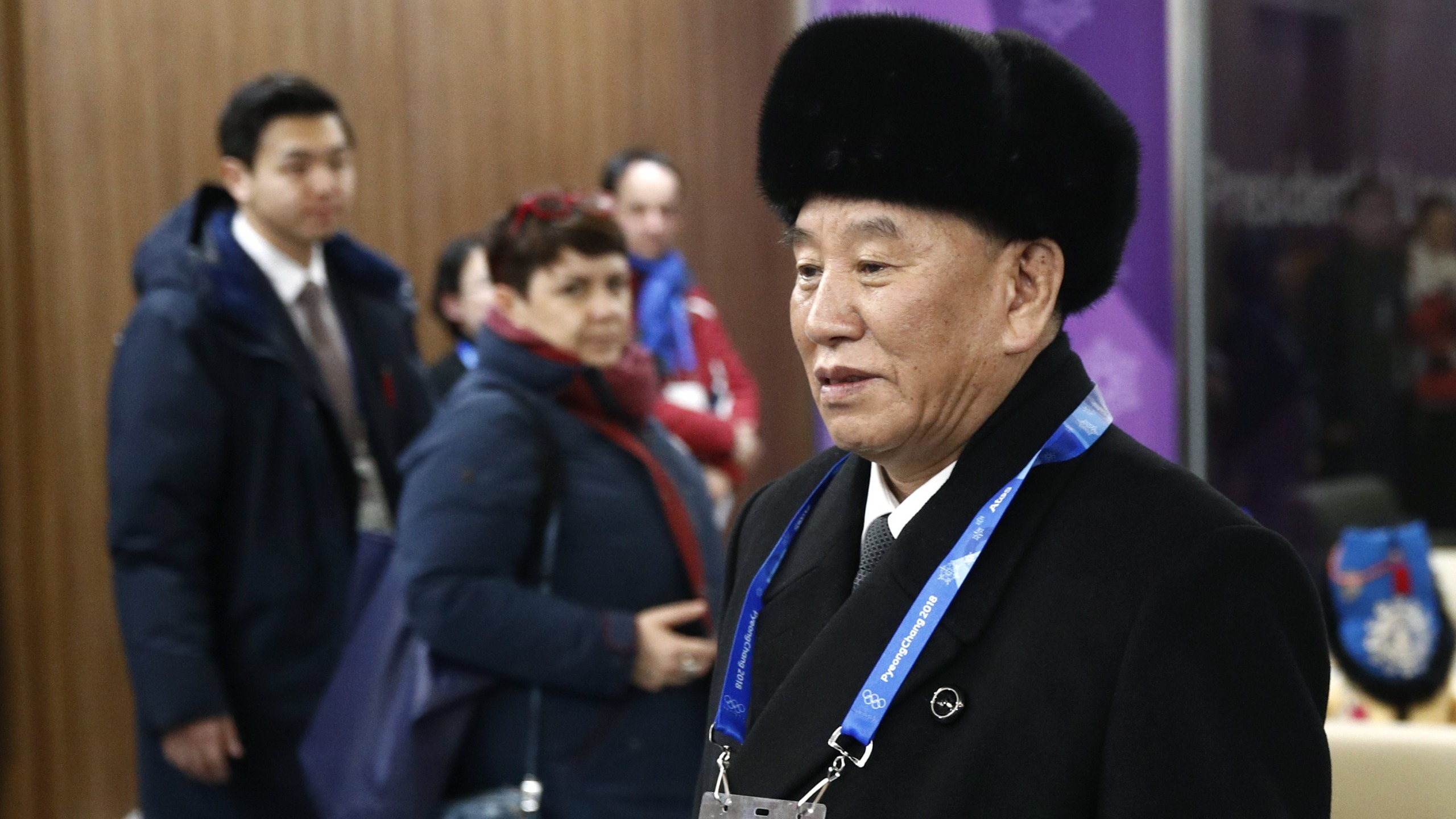 Kim Yong Chol, vice chairman of North Korea's ruling Workers' Party Central Committee, arrives at the closing ceremony of the 2018 Winter Olympics at PyeongChang Olympic Stadium on February 25, 2018, in Pyeongchang-gun, South Korea. (Credit: Patrick Semansky - Pool /Getty Images)