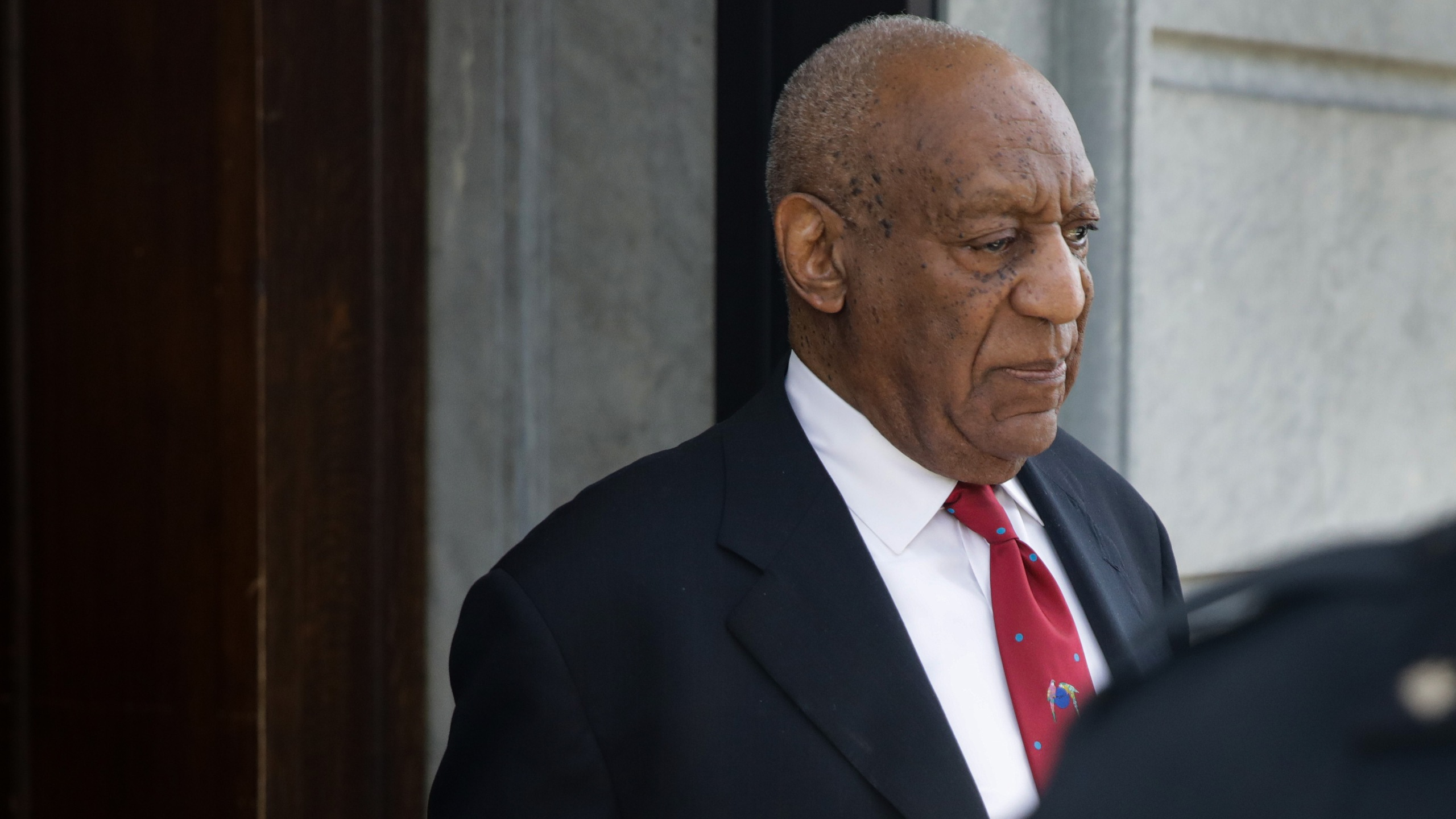 Actor and comedian Bill Cosby comes out of the Courthouse after the verdict in the retrial of his sexual assault case at the Montgomery County Courthouse in Norristown, Pennsylvania on April 26, 2018. (Credit: DOMINICK REUTER/AFP/Getty Images)