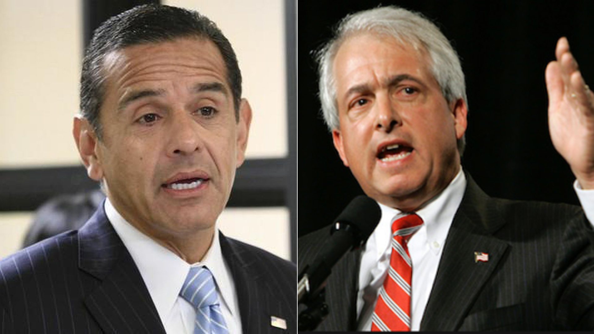 Democrat Antonio Villaraigosa, left, and Republican John Cox are both contenders in California's gubernatorial contest. (Credit: Irfan Khan / Los Angeles Times / John Cox's Facebook page)
