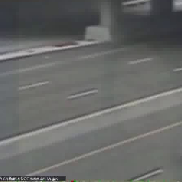 An image from Caltrans shows the 710 Freeway in Long Beach where a crash shut down lanes on May 31, 2018.