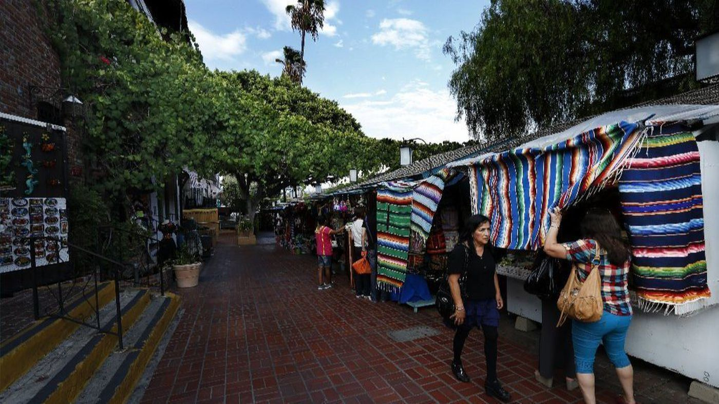 Visitors to El Pueblo de Los Angeles in downtown Los Angeles are shown in this 2015 file photo. (Credit: Mel Melcon/Los Angeles Times)