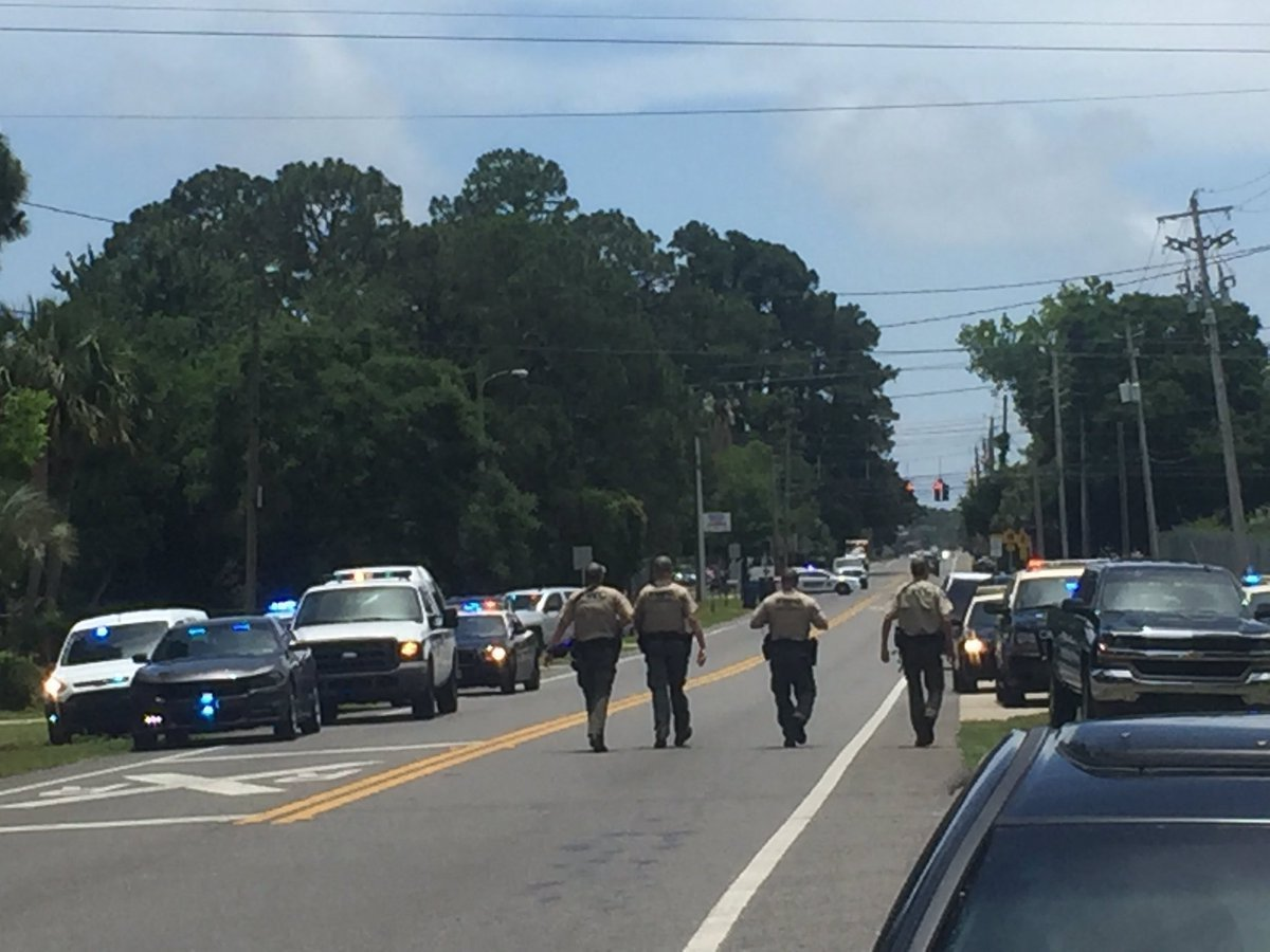 According to the Bay County Sheriff's Office, authorities responded to the scene of an active shooting at an apartment complex in Panama City, Florida on May 22. (Credit: Eryn Dion/Panama City News Herald via CNN Wire)