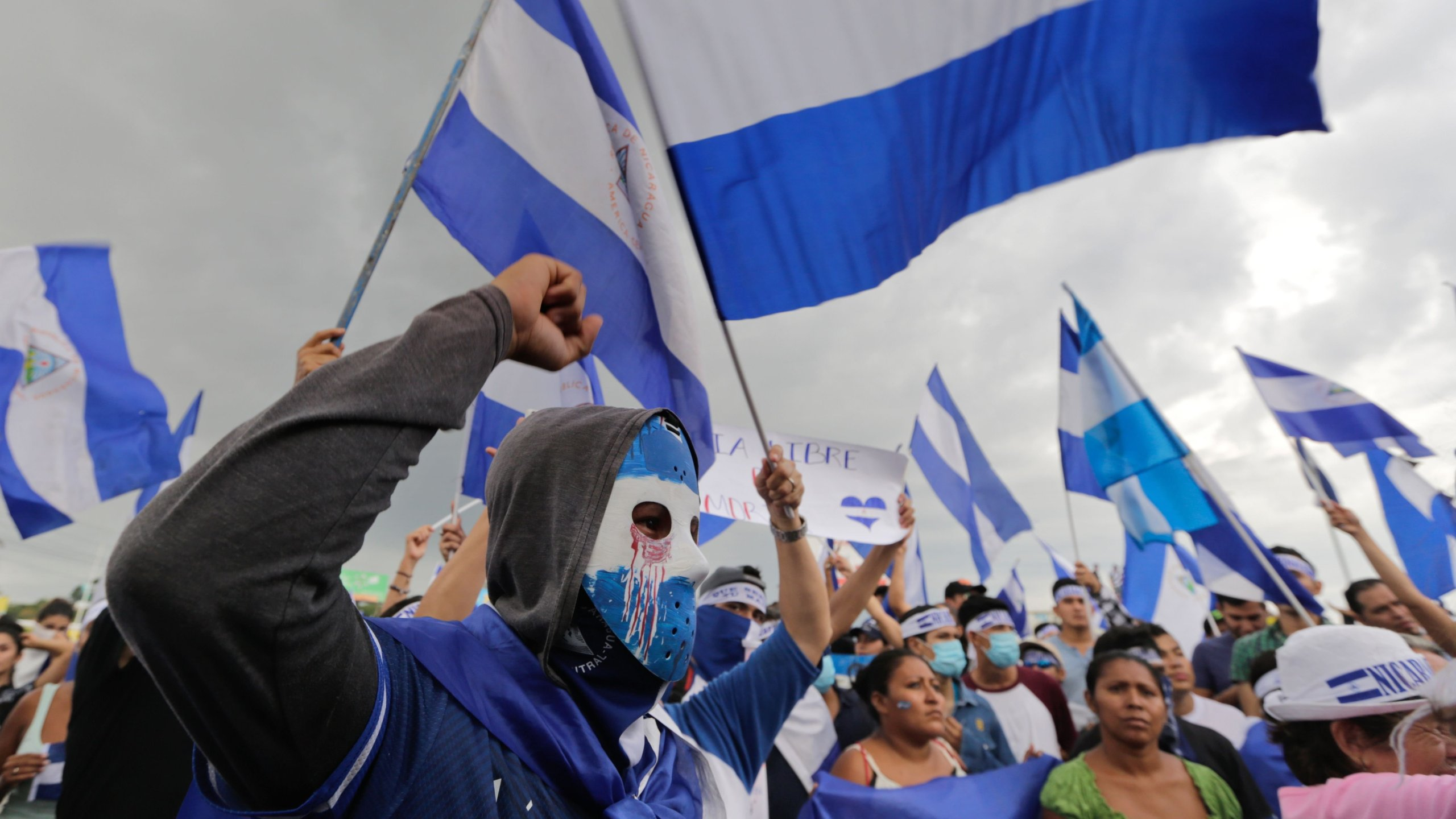 Demonstrators protest in Managua, Nicaragua on May 26, 2018. (Credit: Inti Ocon/AFP/Getty Images)