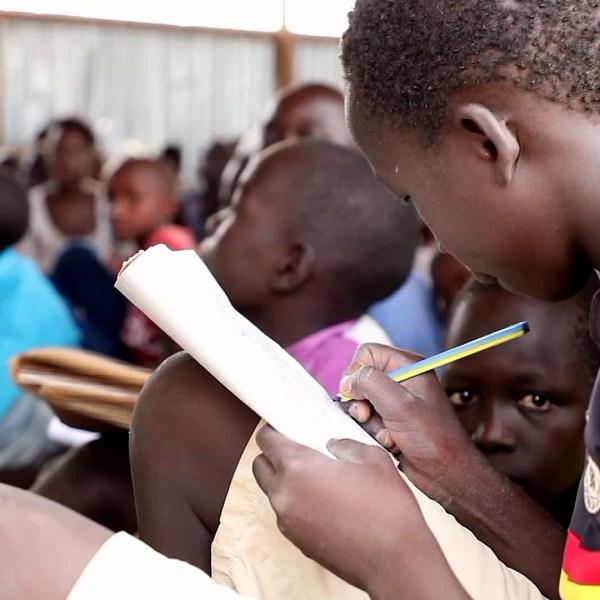 Children take advantage of the opportunity to attend school in Kakuma, Kenya. (Credit: KTLA)