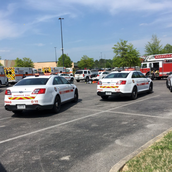 Police and fire officials respond to a shooting at a mall in Nashville on May 3, 2018. (Credit: Nashville Fire Department)