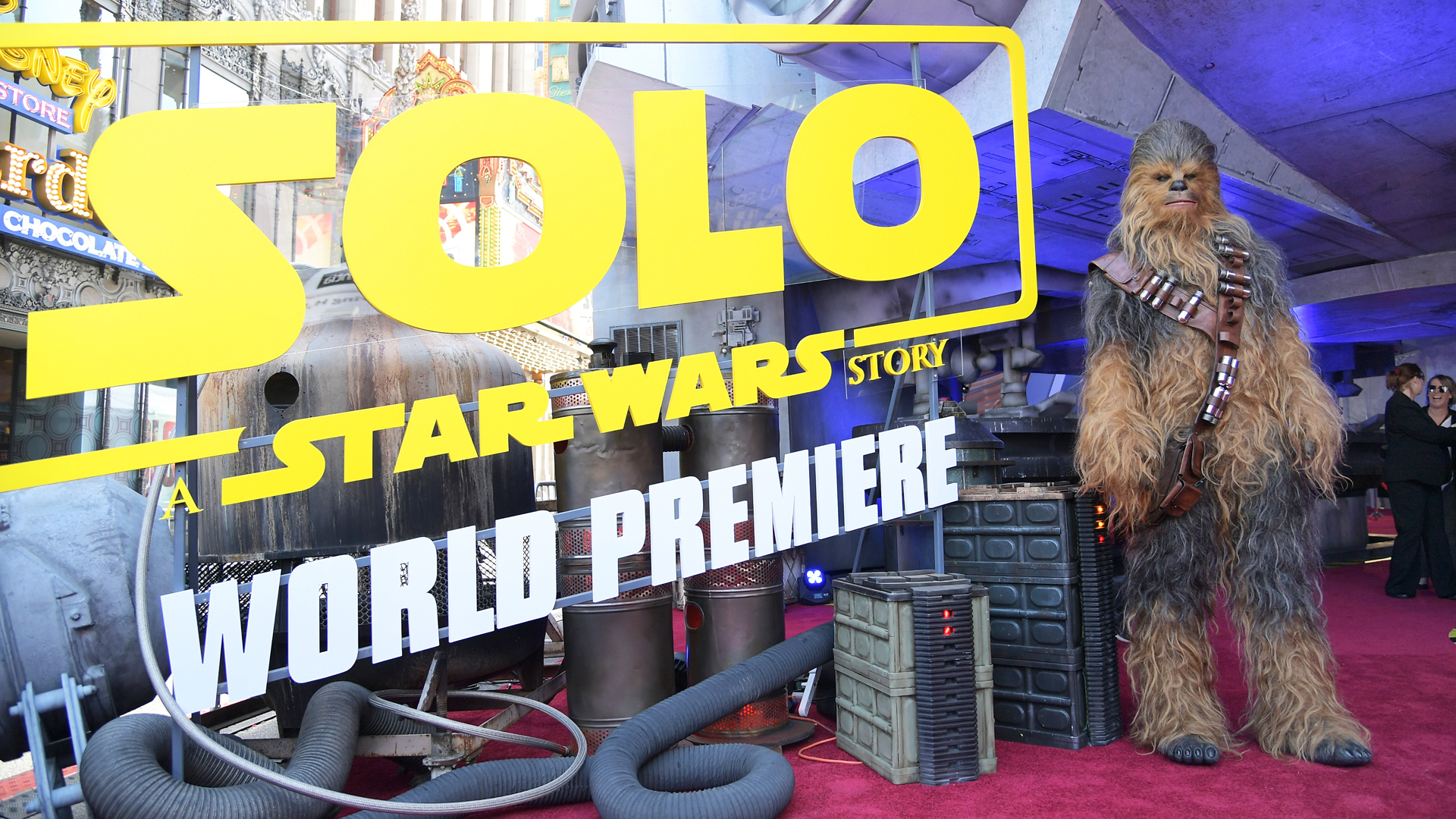 """The world premiere of """"""""Solo: A Star Wars Story"""""""" was held in Hollywood on May 10, 2018. (Credit: Charley Gallay/Getty Images for Disney)"""