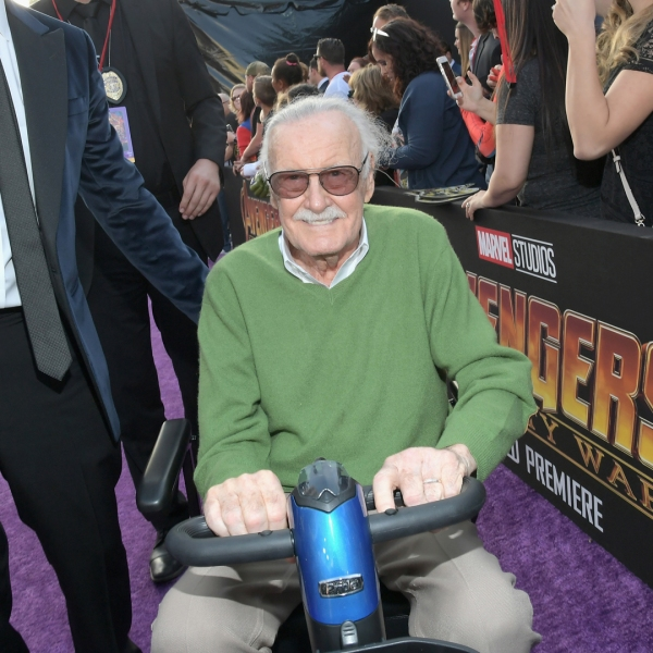 "Stan Lee attend the Los Angeles Global Premiere for ""Avengers: Infinity War"" on April 23, 2018 in Hollywood. (Credit: Charley Gallay/Getty Images for Disney)"