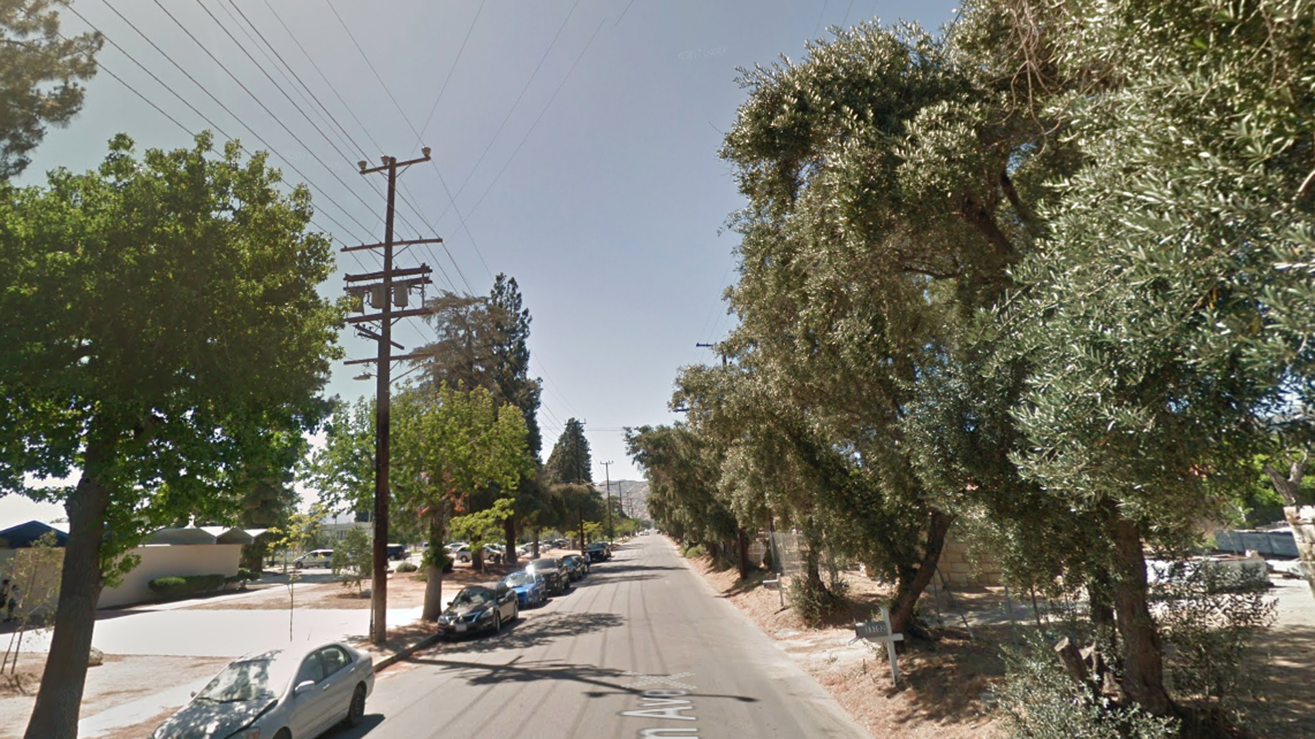 The 13100 block of Borden Avenue in Sylmar, where a person was shot to death on May 28, 2018, is seen here. (Credit: Google Maps)