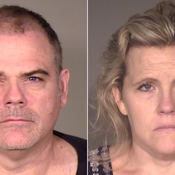David Hooper, left, and Elizabeth Hooper are seen in booking photos released by the Ventura County Sheriff's Department on May 1, 2018.