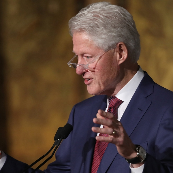 Former President Bill Clinton speaks at Georgetown University's Gaston Hall in Washington, D.C., on Nov. 6, 2017. (Credit: Win McNamee/Getty Images)