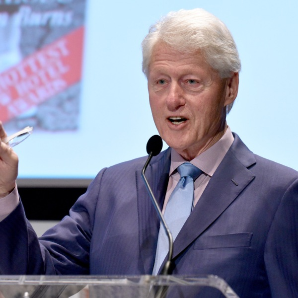 Former President Bill Clinton speaks during the Town and Country Philanthropy Summit on May 9, 2018 in New York City. (Credit: Bryan Bedder/Getty Images for Town and Country)
