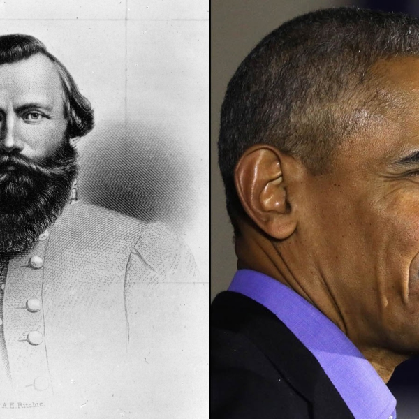 A Richmond, Virginia, elementary school will switch its name from that of a Confederate general to that of the nation's first black President. (Credit: Hulton Archive & Dominick Reuter/AFP/Getty Images)