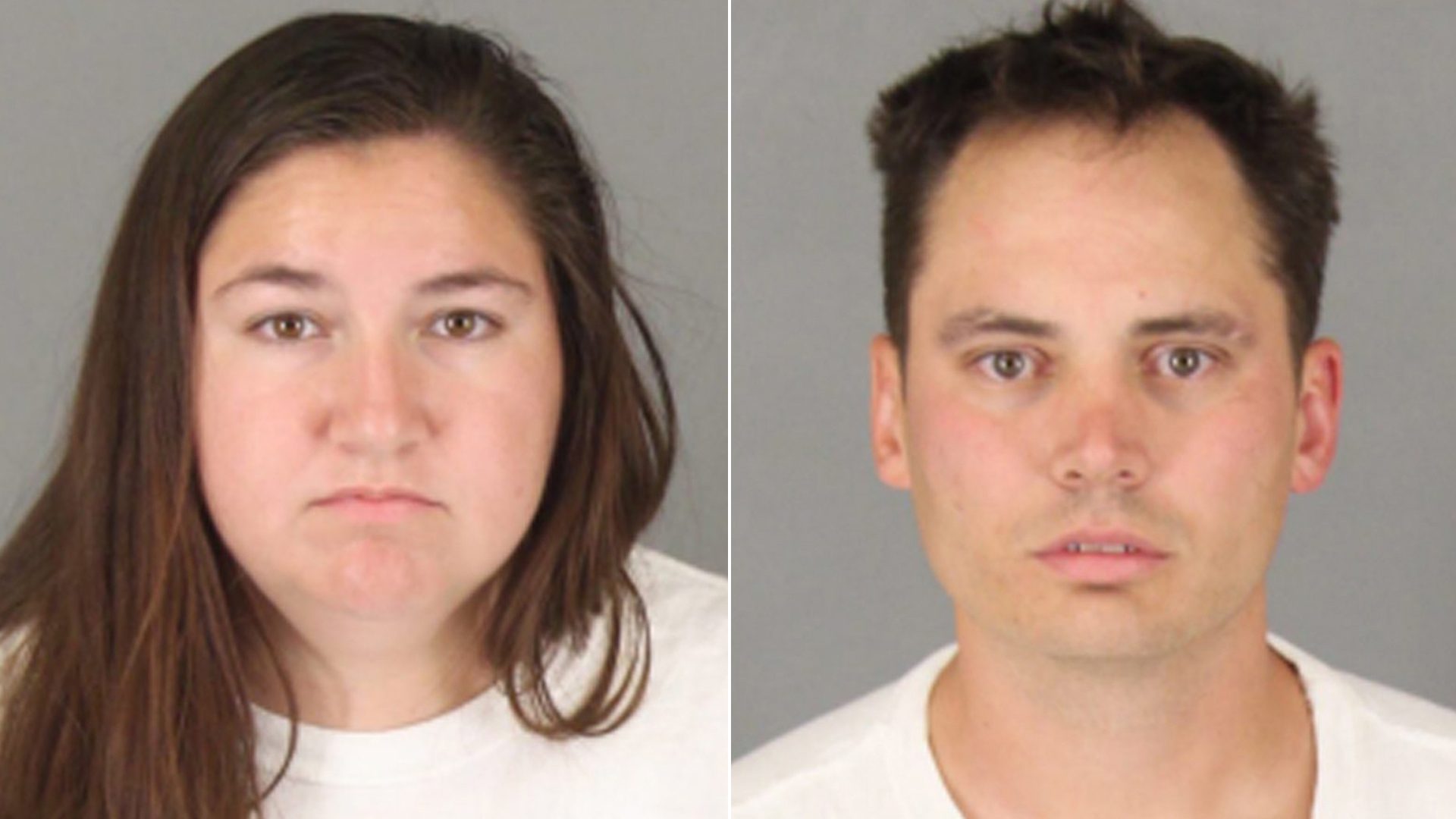 Jeryn Johnson, left, and Benjamin Whitten, right, are seen in booking photos released by Murrieta police.